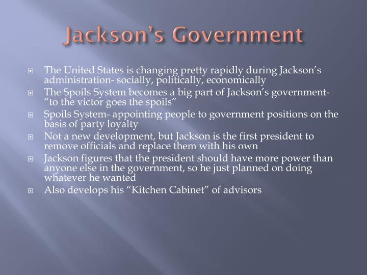 Jackson s government