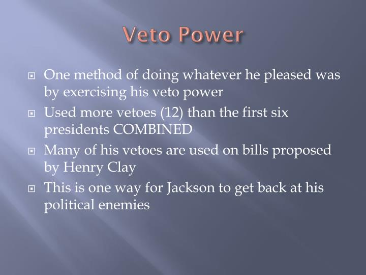 Veto power