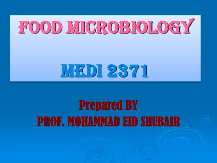 Food microbiology medi 2371