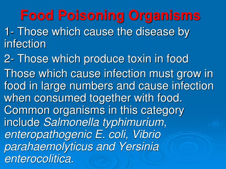 Food Poisoning Organisms