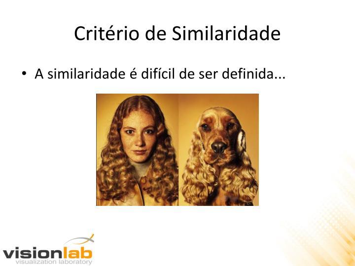 Critério de Similaridade