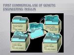 first commerical use of genetic engineering insulin