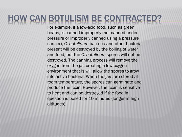 How can Botulism be Contracted?
