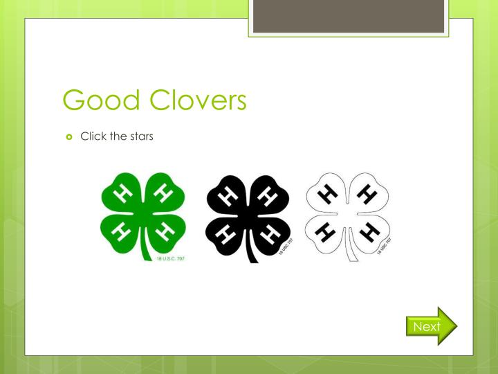 Good Clovers