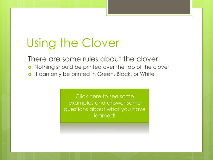 Using the Clover