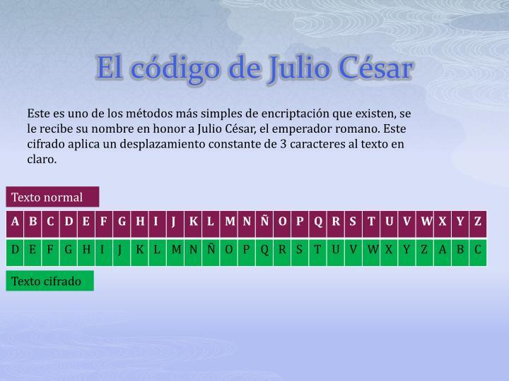 El código de Julio César