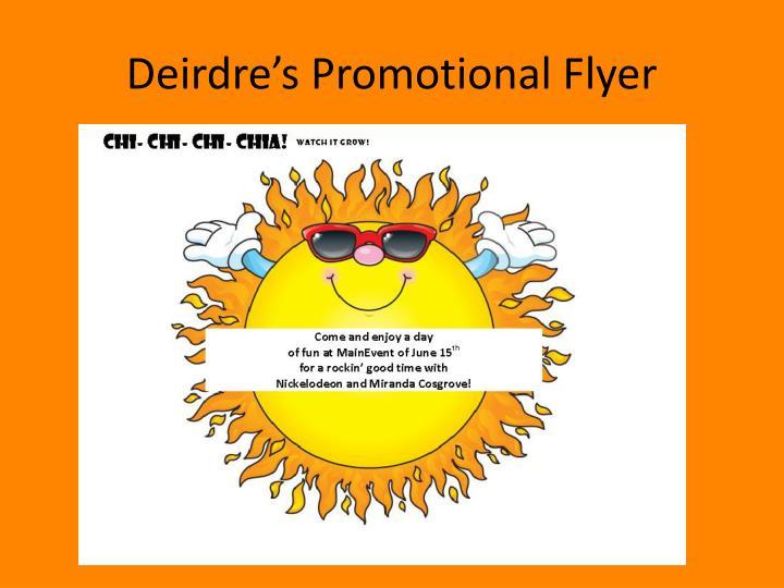 Deirdre's Promotional Flyer