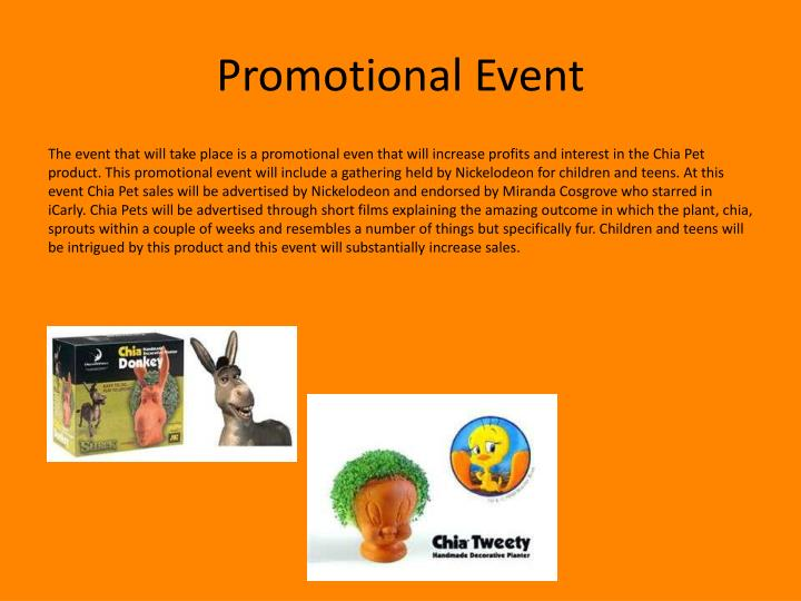 Promotional event