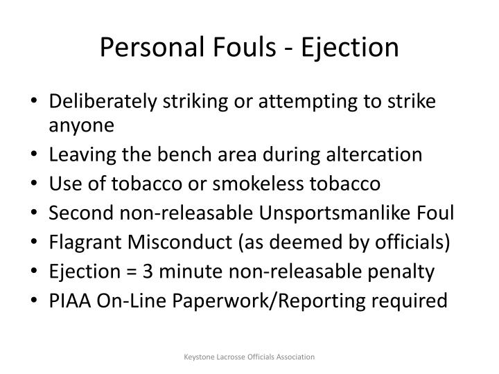 Personal Fouls - Ejection