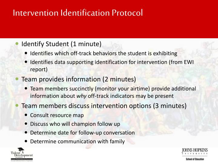 Intervention Identification Protocol