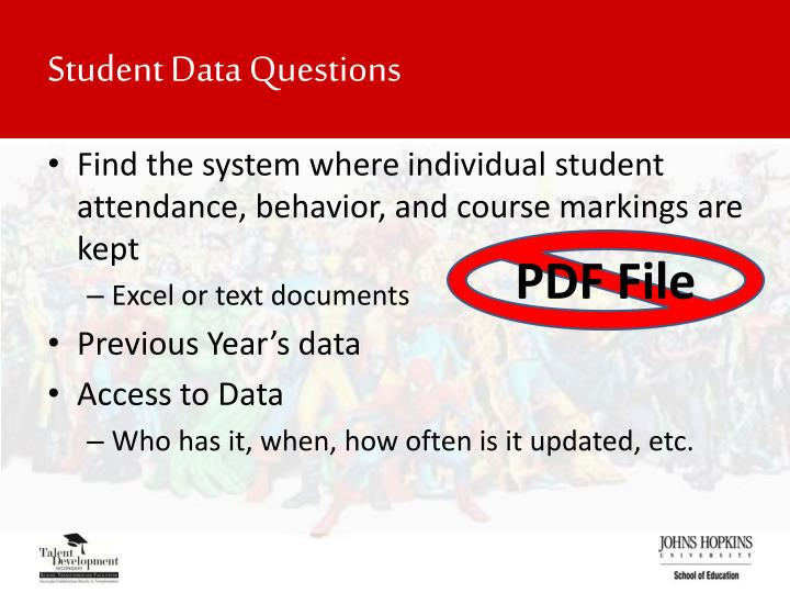 Student Data Questions