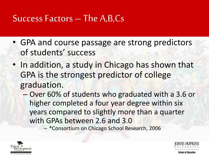 Success Factors – The A,B,Cs