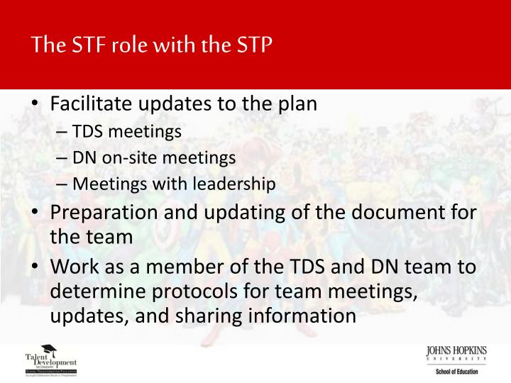 The STF role with the STP