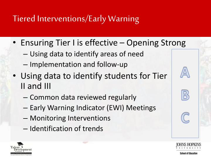 Tiered Interventions/Early Warning