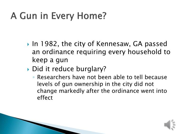 A Gun in Every Home?