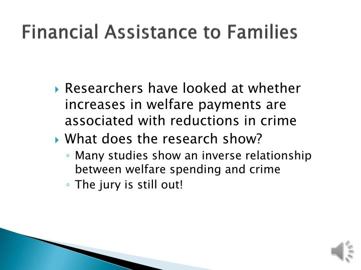 Financial Assistance to Families