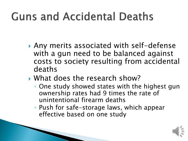 Guns and Accidental Deaths