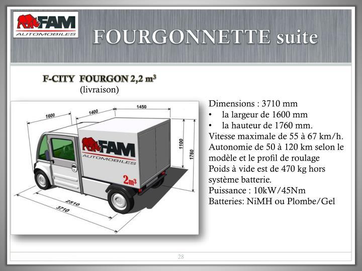 FOURGONNETTE suite