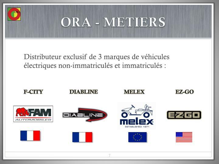 ORA - METIERS