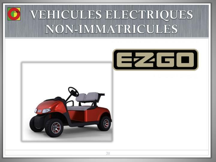 VEHICULES ELECTRIQUES NON-IMMATRICULES