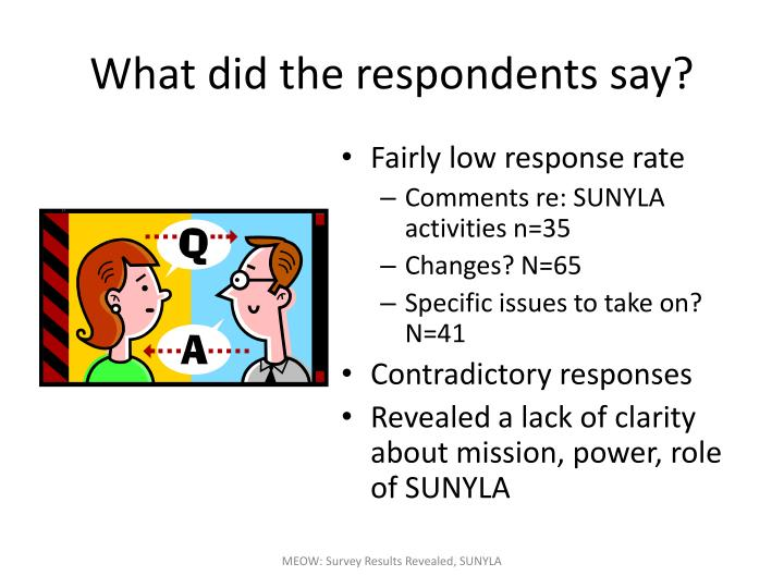 What did the respondents say?