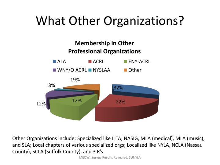 What Other Organizations?