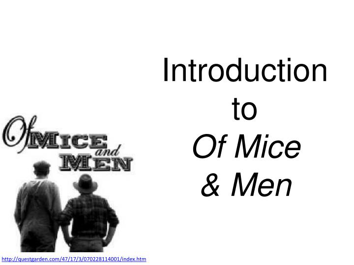 Introduction to of mice men