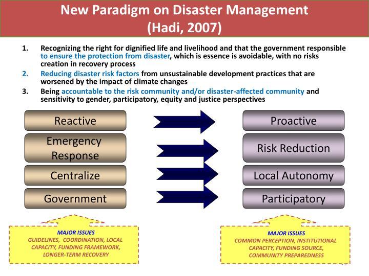 New Paradigm on Disaster Management
