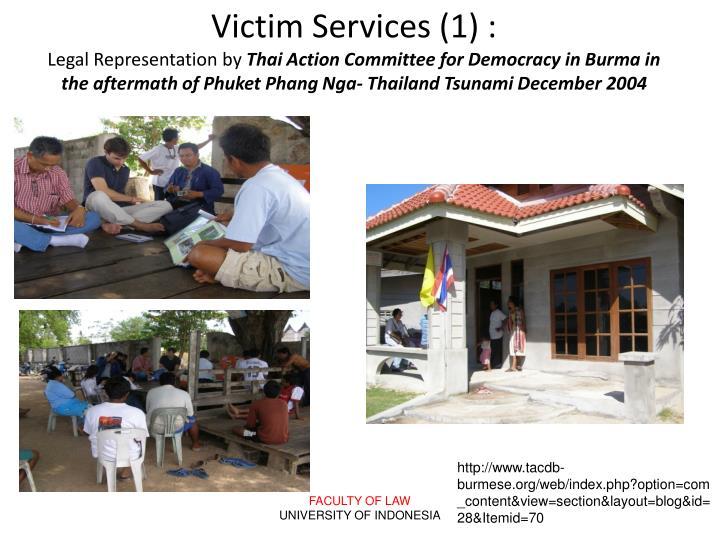 Victim Services (1) :