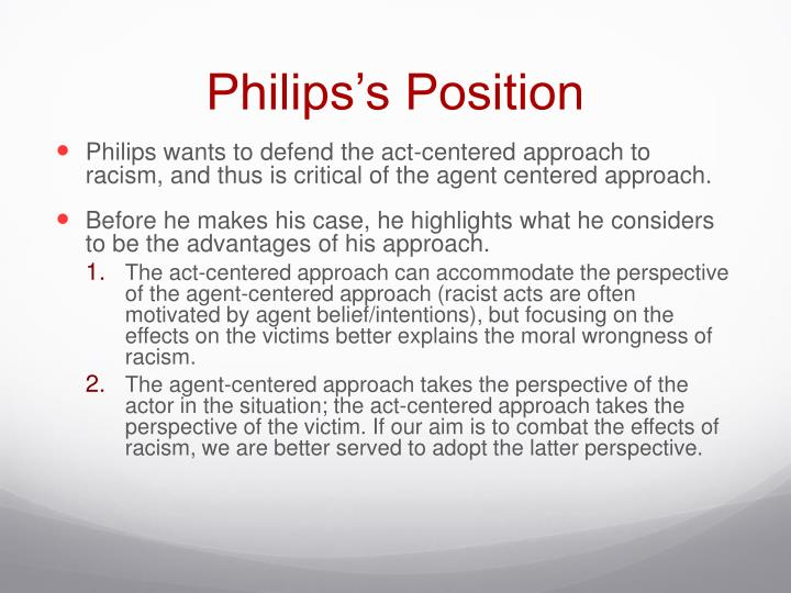 Philips's Position