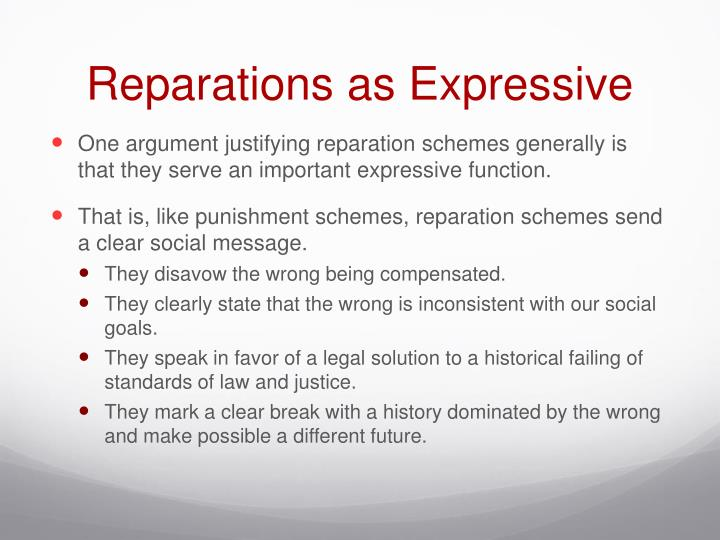 Reparations as Expressive