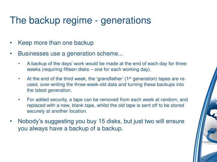 The backup regime - generations