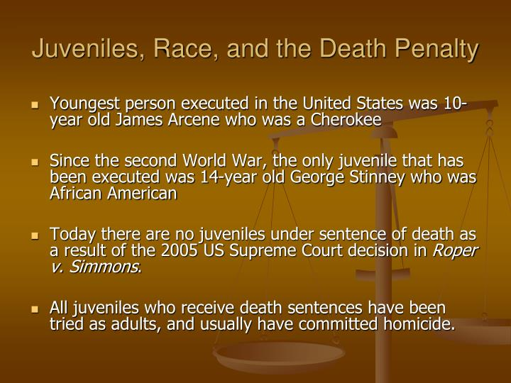 juveniles and the death penalty essays