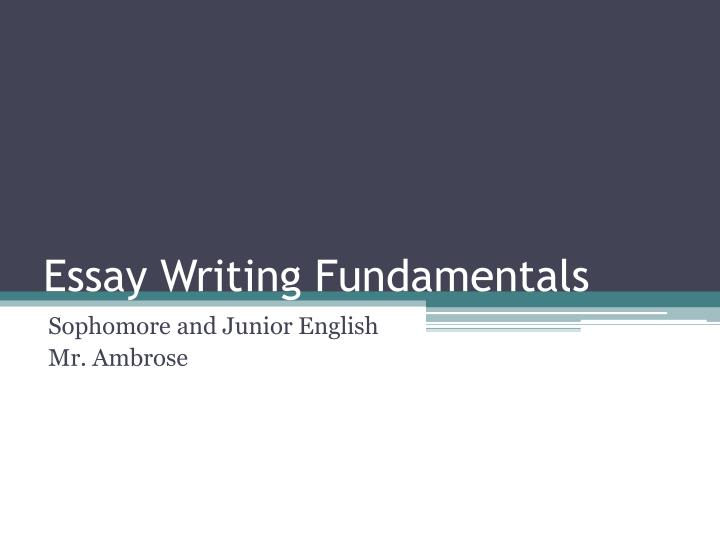 technical writing fundamental essay Essays and term papers but you make your job and the reader's job much easier by following some basic another important principle in technical writing.