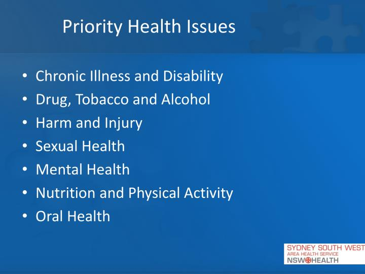 Priority Health Issues