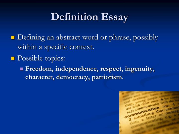 definition essay the word private A definition essay is not a complicated type of task, but if a student finds it hard for any reasons, he/she may contact professional online writing service to let it solve a select your word wisely there is no chance of writing a hefty essay on a simple word with an obvious or single definition.