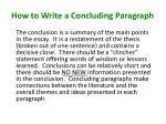 how to write a concluding paragraph