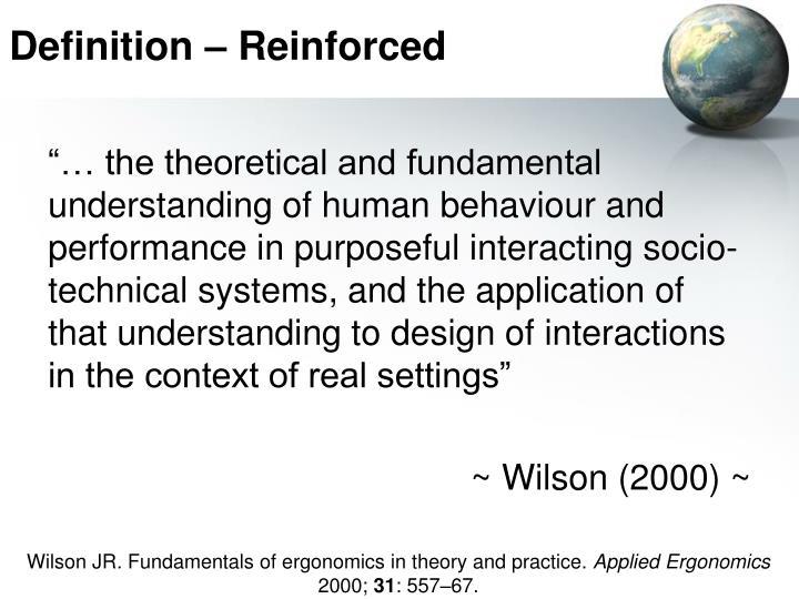 Definition – Reinforced