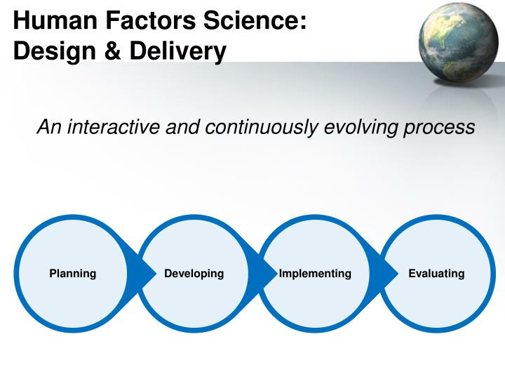 Human Factors Science: