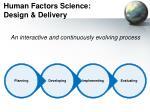 human factors science design delivery