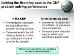 linking the bromiley case to the cnp problem solving performance
