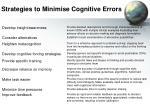 strategies to minimise cognitive errors
