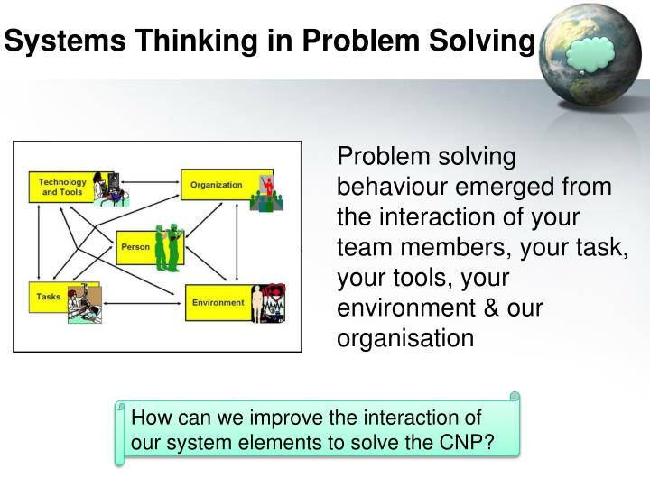 Systems Thinking in Problem Solving
