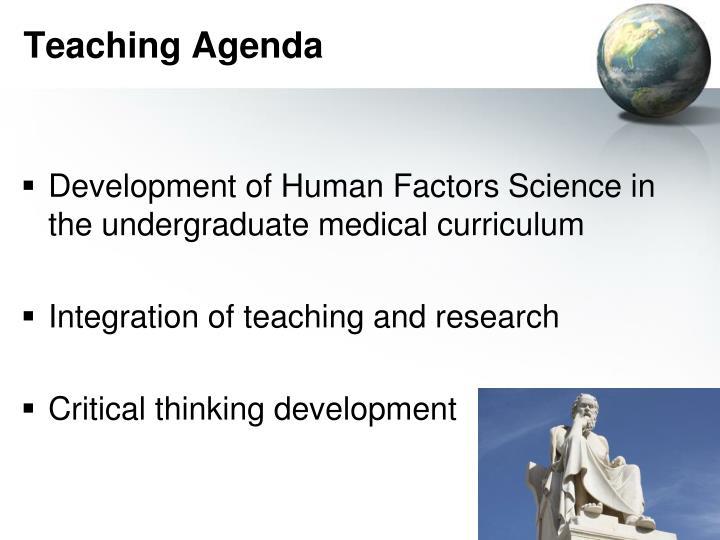 Teaching Agenda