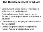 the dundee medical graduate