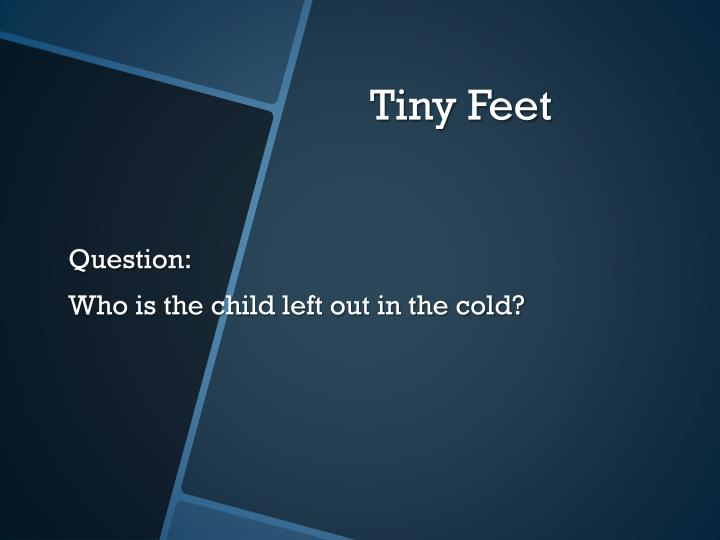 tiny foot by just gabriela mistral