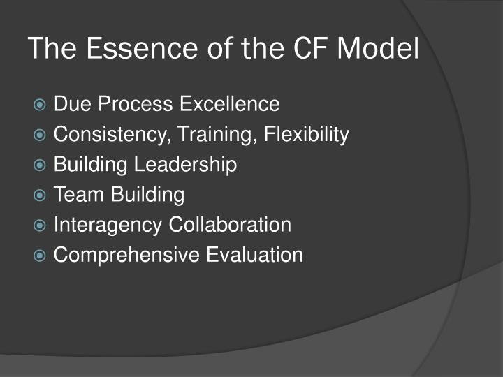 The Essence of the CF Model