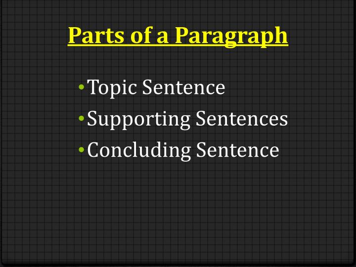 writing a paragraph powerpoint presentation The same is true with writing an essay and making an outline introduction the benefits of an outline an outline of an essay can be very helpful for two reasons: an outline will help make your essay more organized a careful plan will help your body paragraphs stay focused on the ideas in your thesis statement.
