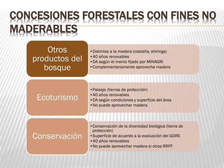 Concesiones Forestales con Fines No Maderables