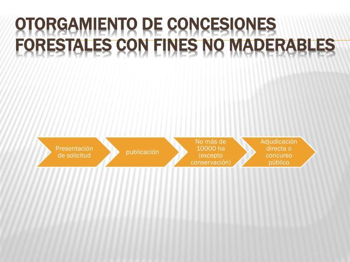 Otorgamiento de Concesiones Forestales con Fines No Maderables